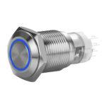 FT16QB-F11-EB12/S-C12PO Anti-Vandal Momentary Button Blue Color