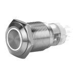 FT16QB-F11-EW12/S-C12PO Anti-Vandal Momentary Button White Color